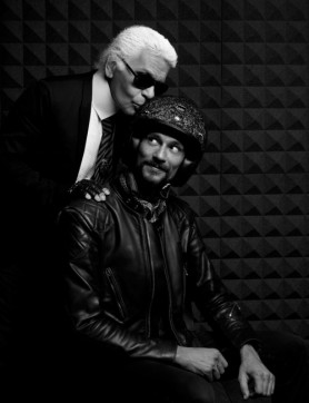 Legendary Karl Lagerfeld and Ruby proprietor Jerome Coste get cosy