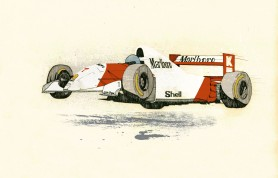 Mika Hakkinen gets air in his McLaren by Jess Douglas