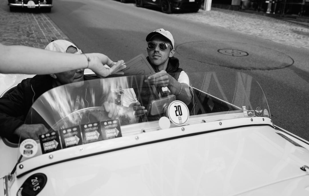 Luca co pilot British Classic Car Meeting