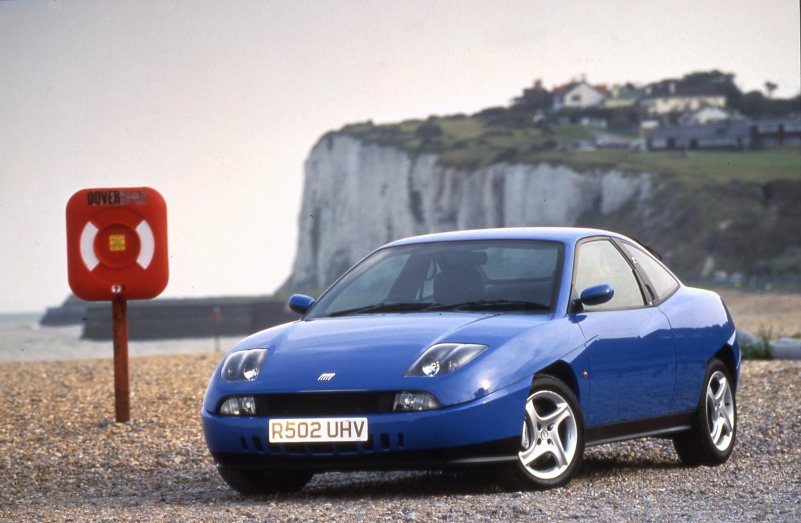Blue Fiat Coupé