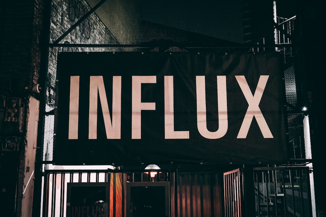 Influx 2019 event village underground
