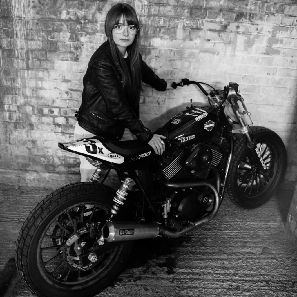 Marnie Brinkworth and her dad's Noise Cycles Hooligan Flat Tracker