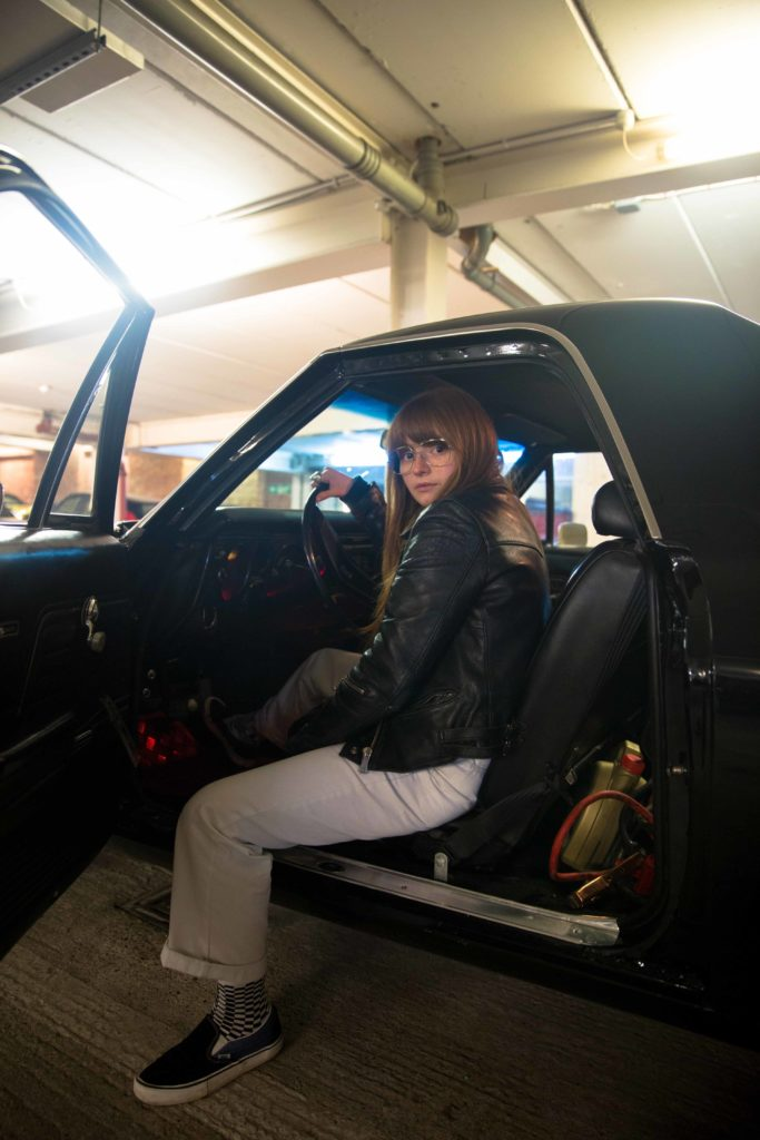 Marnie Brinkworth in the driving seat.