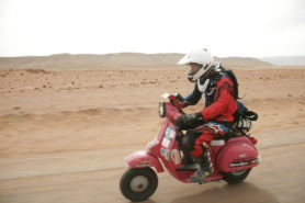 Sticky in the Sahara: not the scooter's natural habitat: but fun all the same