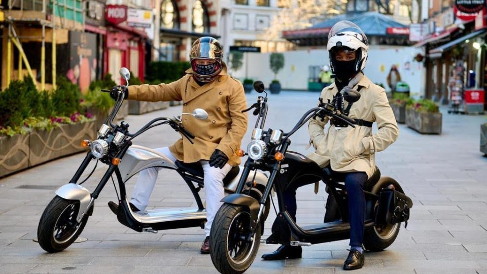 A couple of Sterling Eco bikes in London