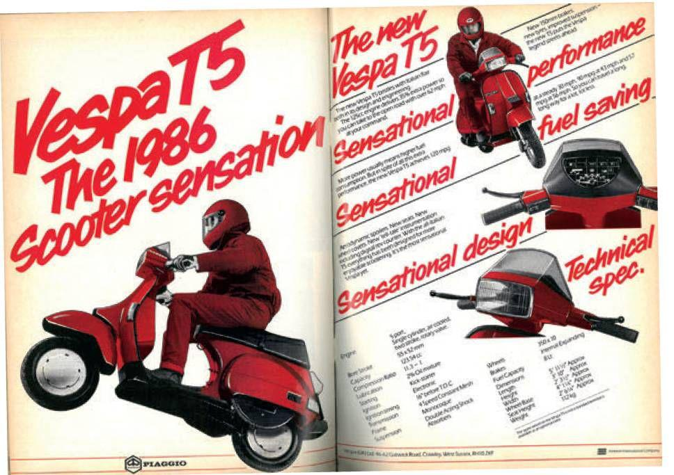 Rhe T5 was the quickest 125 scooter Piaggo ever made