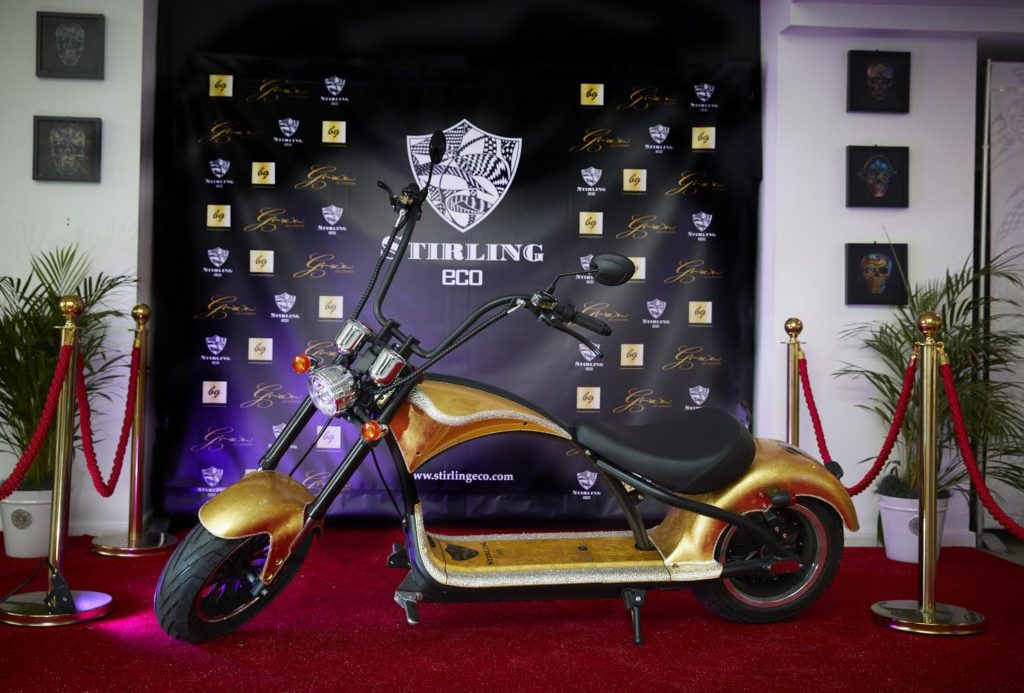 A Sterling Eco bike on the red carpet at a pretend film premiere