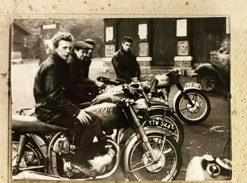 An old photo of the London bike scene