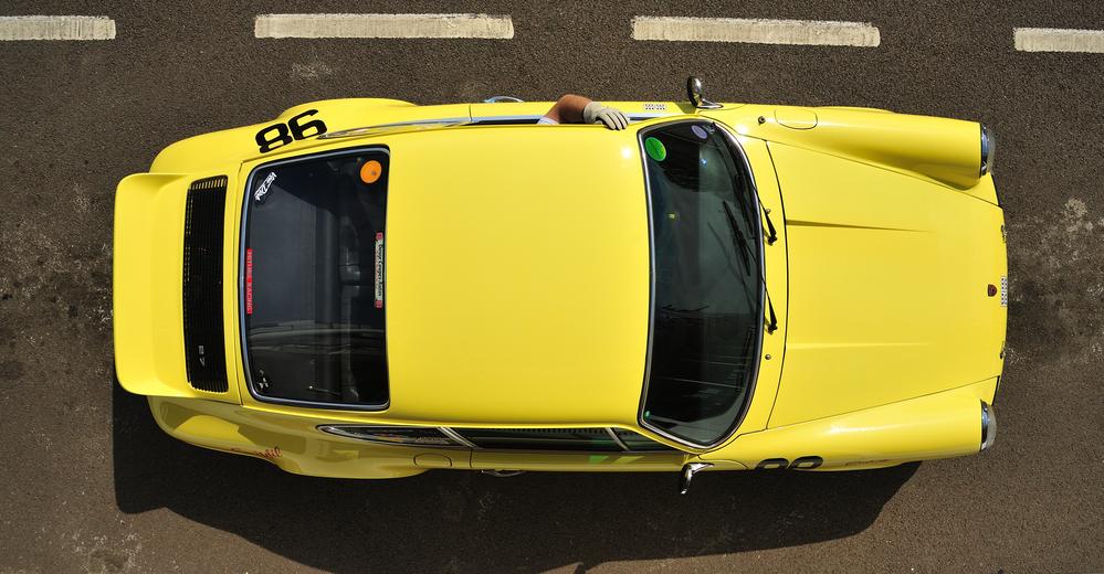 A bird's-eye view of the Porsche Carrera