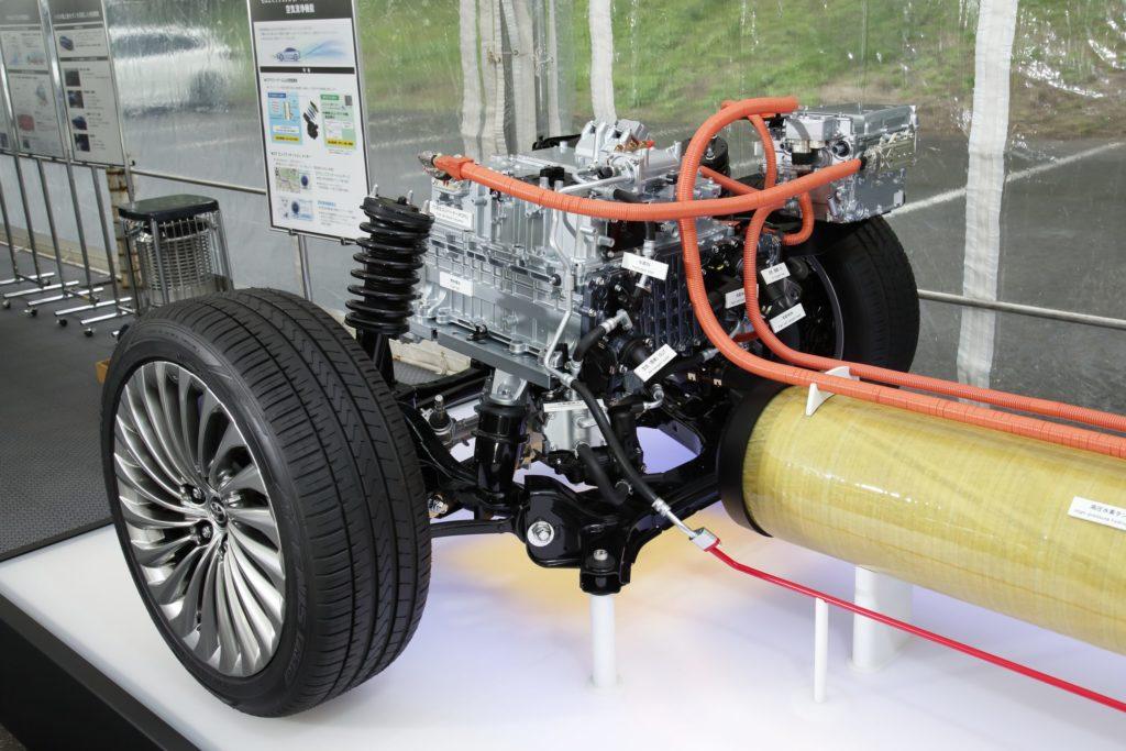 An internal view of the hydrogen cell power