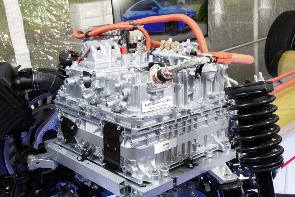 The inner workings of a hydrogen fuel cell